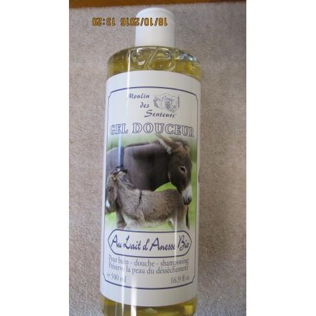Shower gel with organic donkey milk