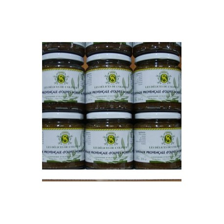 LARGE JAR BLACK TAPENADE WITH BASIL