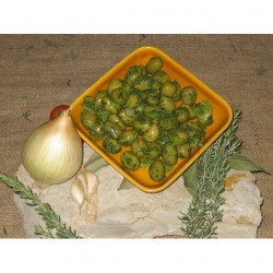 GREEN OLIVES WITH PISTOU 500g
