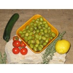 LOCAL SALONENQUES VARIETAL OLIVES SPLIT new harvest500G/1.1LBS