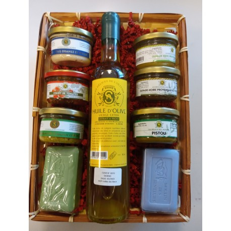 GIFT BASKET WITH 7 PRODUCTS