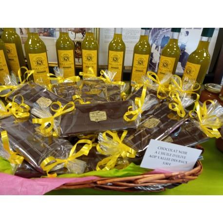 CHOCOLAT A L'HUILE D'OLIVE AOP VALLEE DES BAUX