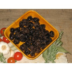 BLACK OLIVES WITH GARLIC 500 G / 1.1 LBS